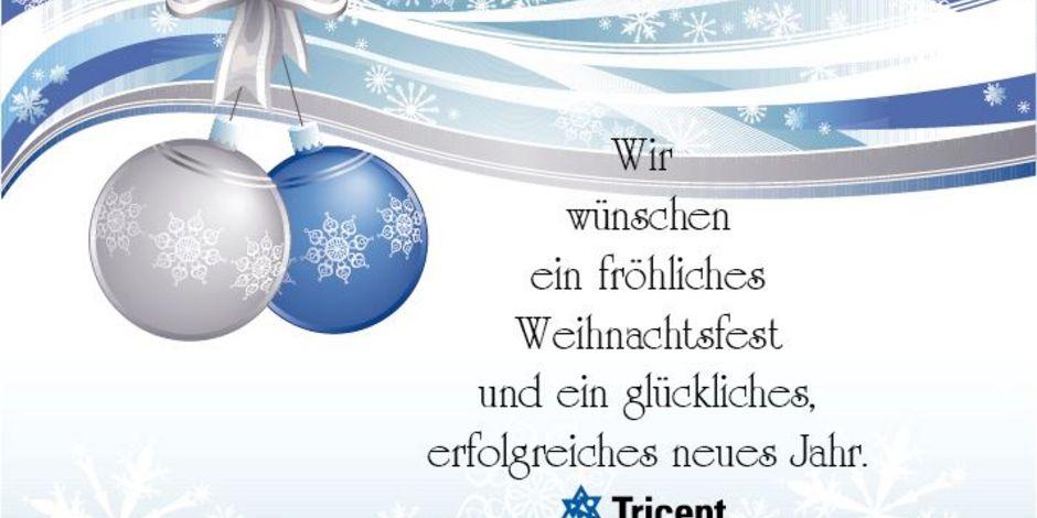 Tricept wünscht frohe Weihnachten und ein erfolgreiches neues Jahr ...